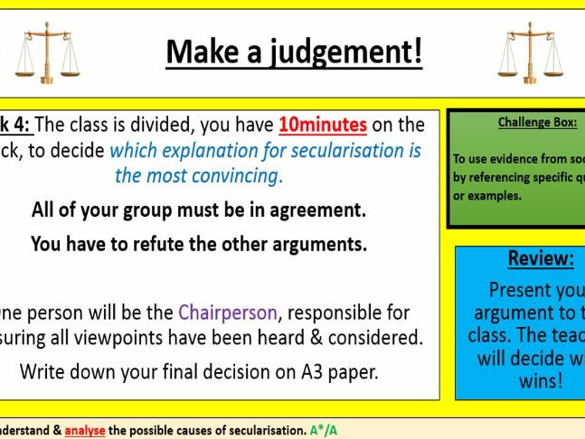 Outstanding beliefs in society sociology lesson: secularisation