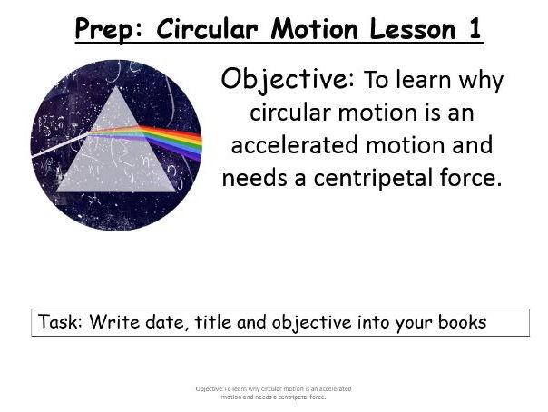 AQA A Level New Specificaiton 7408 Unit 6.1.1 Circular motion lesson 1.3