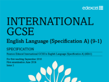 Edexcel IGCSE Language Paper 1 Reading section with The Explorer's Daughter