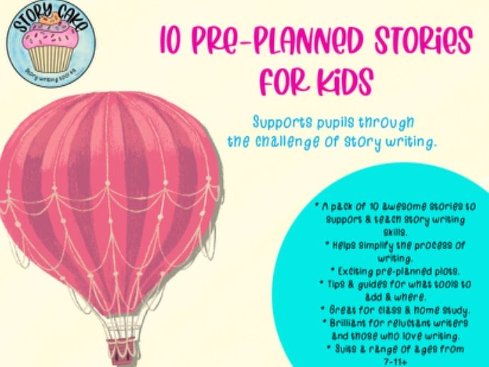 10 Pre-planned, Guided Stories - assisted story writing worksheets for independent writing. KS2 +