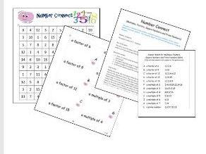 KS2 Multiples, Factors, Squares & Primes Game