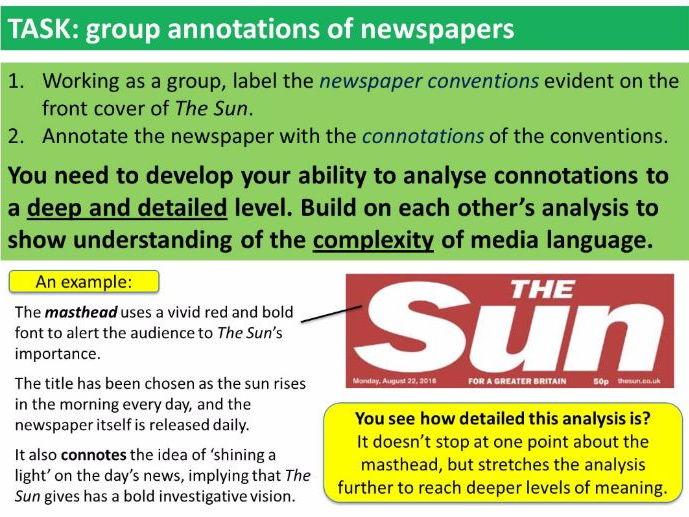 gcse media studies key concepts lessons comparative 9 1 gcse media studies key concepts lesson 6 media language 2