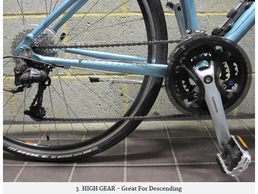 ASD visual for teaching mountain bike gears