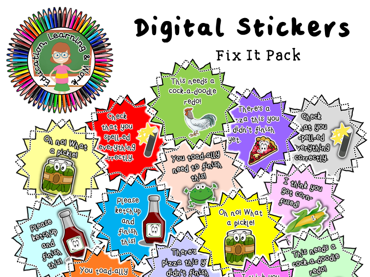 Digital Stickers [3] for Google Classroom, SeeSaw & Distance Learning Platforms
