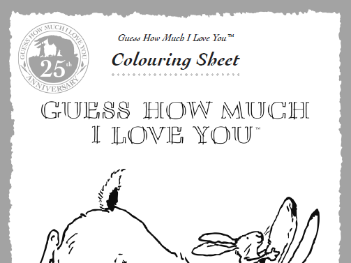 Guess How Much I Love You Activity Sheets