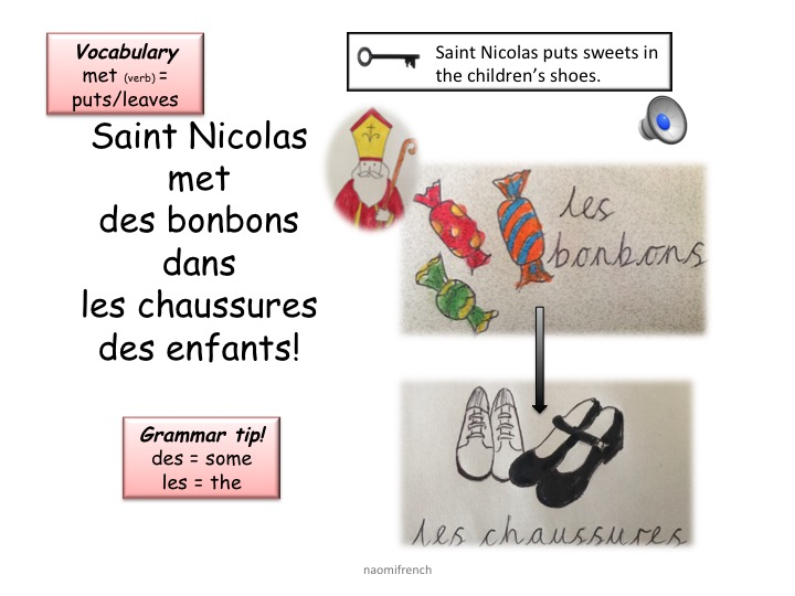 ST NICOLAS FRENCH FUN CHRISTMAS PACK & sound files