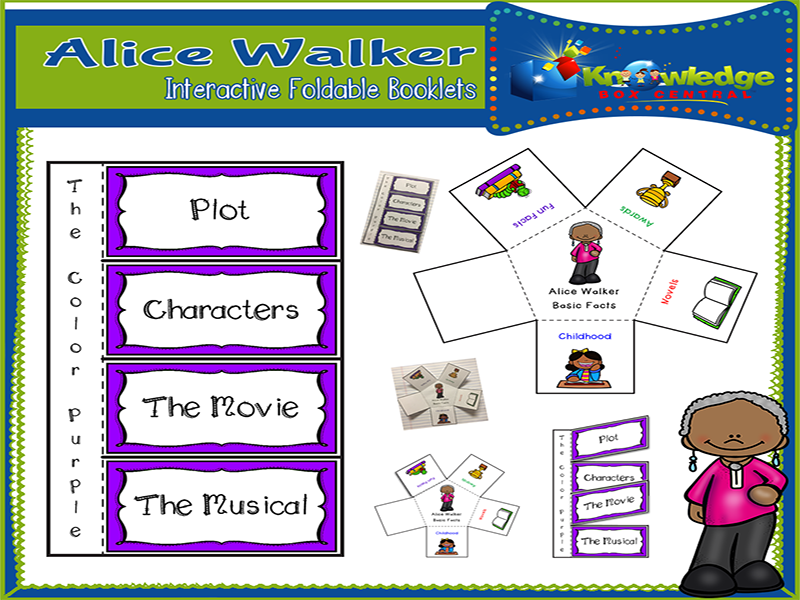 Alice Walker Interactive Foldable Booklets