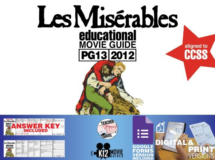 Les Miserables Movie Guide Questions Worksheet Pg13 2012 Teaching Resources