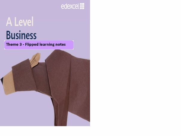 Edexcel A Level Business flipped learning approach for Theme 3: Business decisions and strategy