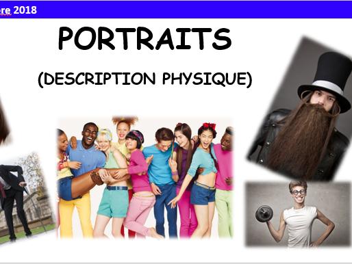 Description physique - Mon portrait - Year 7 - French