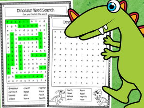 Dinosaurs Word Search Activity