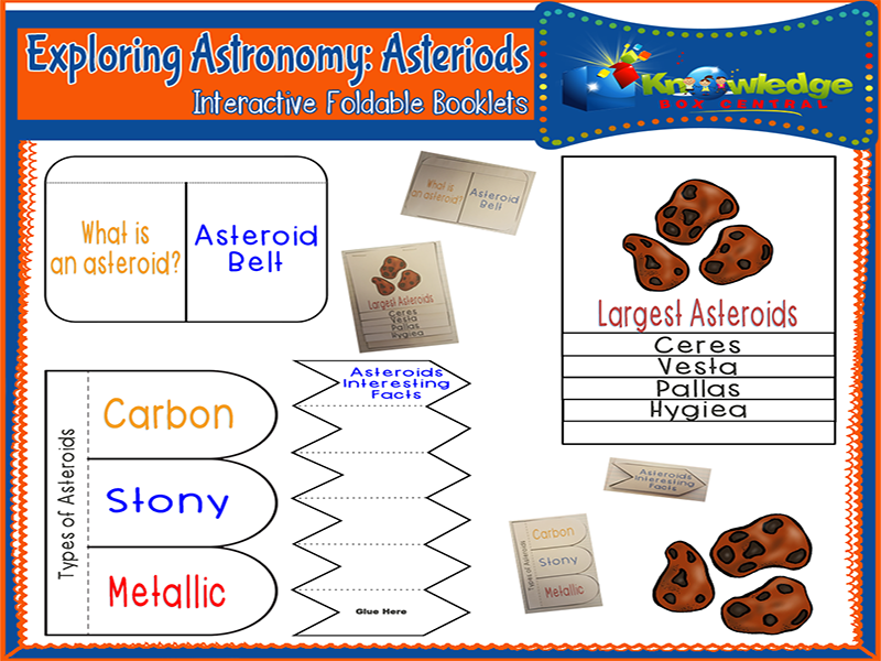 Exploring Astronomy: Asteroids Interactive Foldable Booklets