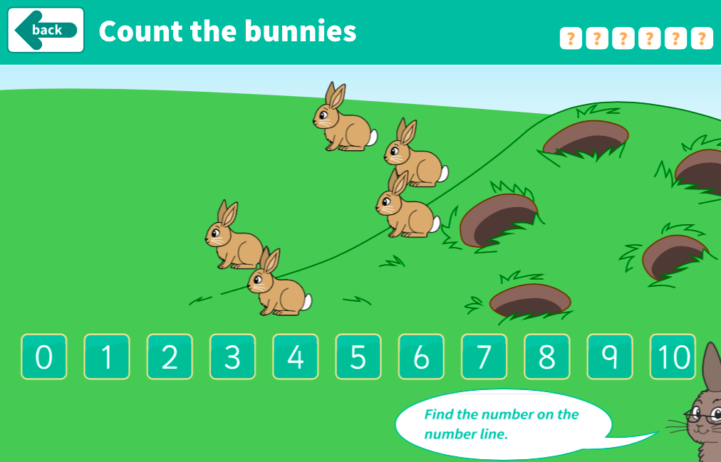 Counting Forwards and Backwards - Counting Bunnies Interactive Game - KS1 Number