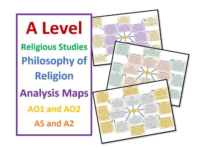 A Level RS: Philosophy of Religion: Analysis Revision Maps