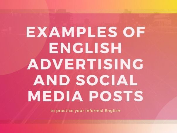 ESL Lesson on advertising&social media