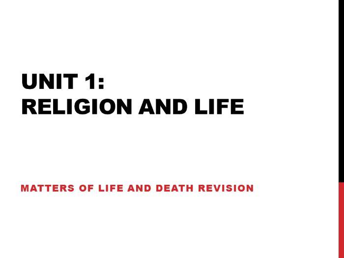 Edexcel Religious Studies Unit 1 Matters of Life and Death (2009 spec)