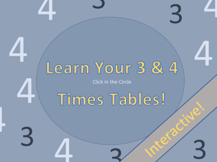 Learn Your 3 and 4 Times Tables
