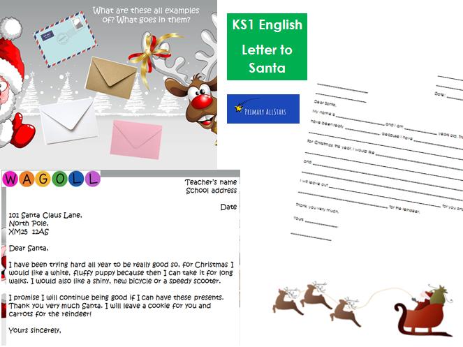KS1 English Letter to Santa