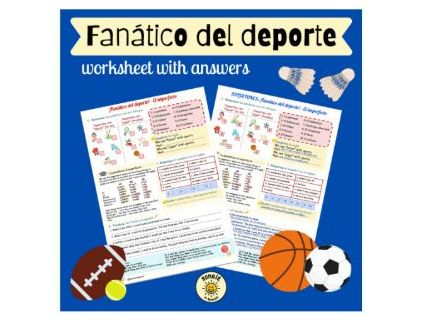 Intereses e influencias. Fanático del deporte. El imperfecto. Worksheet sports and imperfect