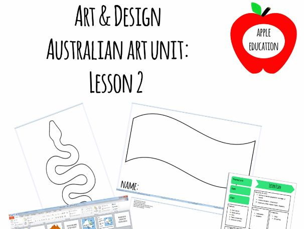 Australian Art Lesson Plan Pack - Lesson 2: An introduction to Aborigional Art - PowerPoint, 3 hando