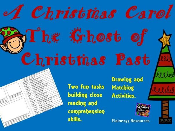 Ghost of Christmas Past Comprehension Worksheet Drawing and Matching Activities