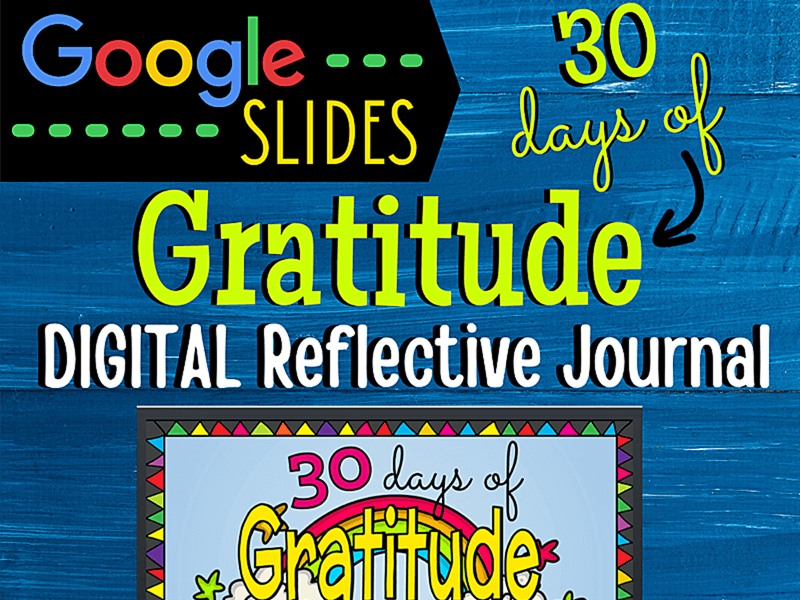 30 Days of Gratitude (Google Digital Resource)