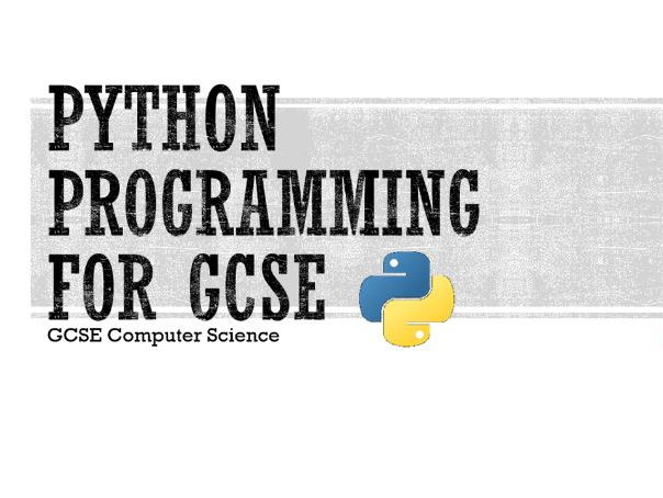 Python Programming for GCSE
