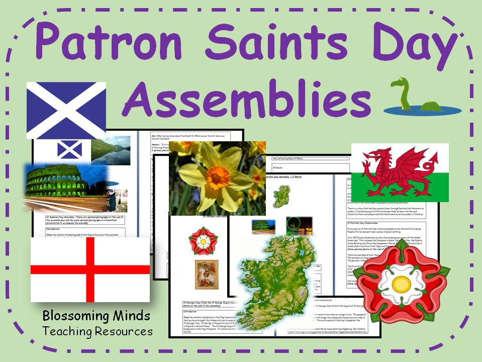 Patron Saints Days Assembly Plans - St David, St Patrick, St George and St Andrew