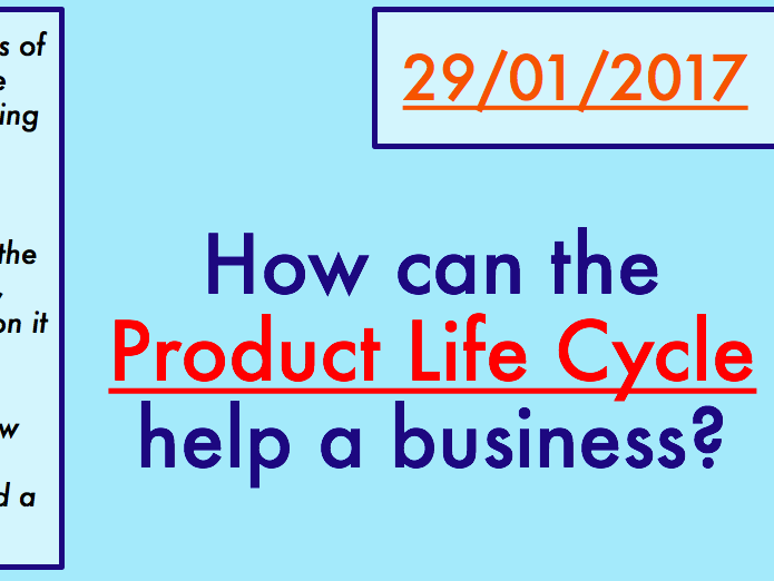 Why is the product life cycle important?