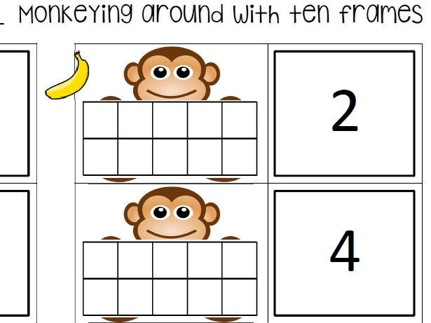 Monkeying Around with Ten Frames