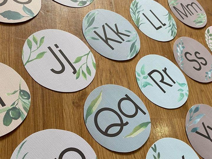 Alphabet Bunting Circles