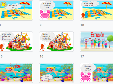 Spanish: Learn things that you do when you go on holidays / actividades que haces en las vacaciones