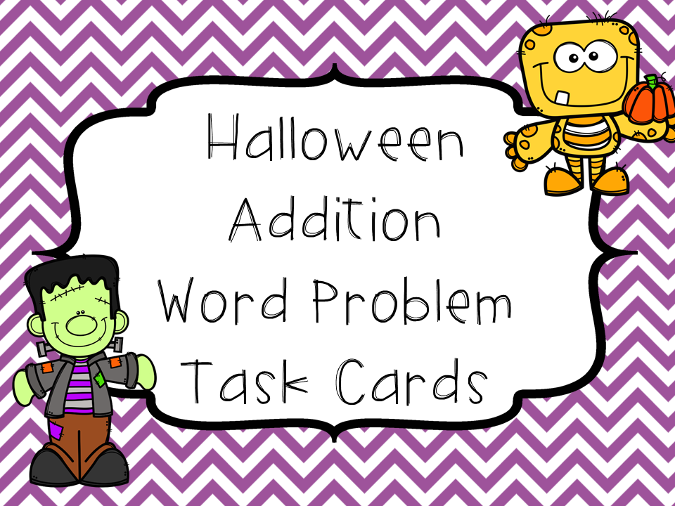 Addition Word Problems-Halloween Theme