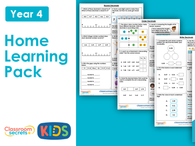 Year 4 Summer Week 2 Home Learning Maths Pack