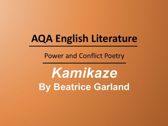 Kamikaze by Beatrice Garland Lesson