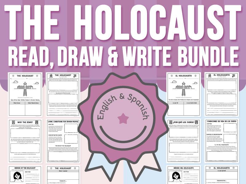 The Holocaust - Read, Draw & Write BUNDLE