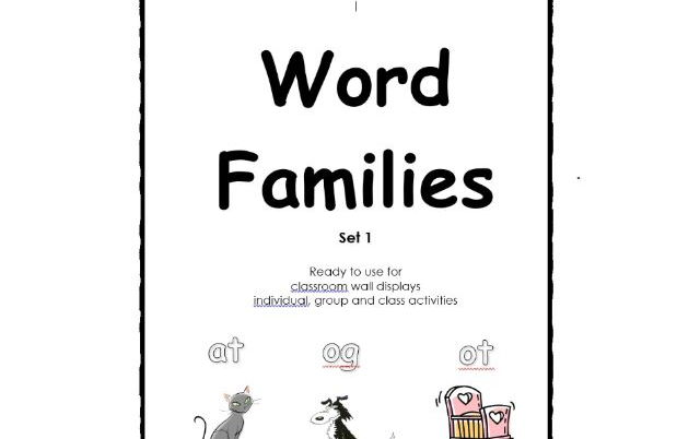 Word Families Set 1