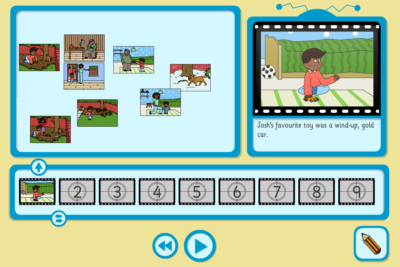 Josh's Favourite Toy Sequence and Retell Interactive Activity - KS1 Literacy