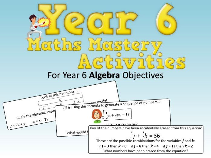 Algebra Mastery Activities – Year 6