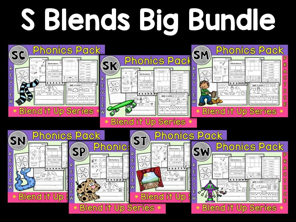 Phonics: Phonics Mega Pack of S Blends