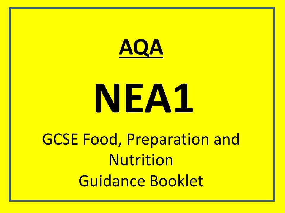 AQA 1-9 Food, preperation and nutrition guidance booklet
