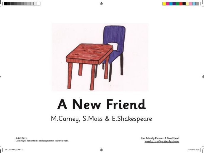 Year 1/2 Phase 5 Phonics Story with Comprehension Questions 'A New Friend' Home Learning.