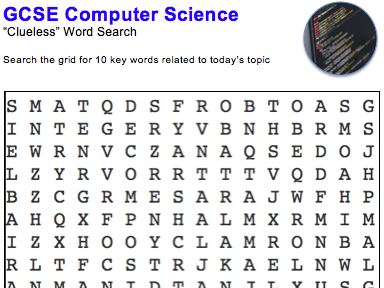 GCSE Computer Science: Word puzzles (Programming)