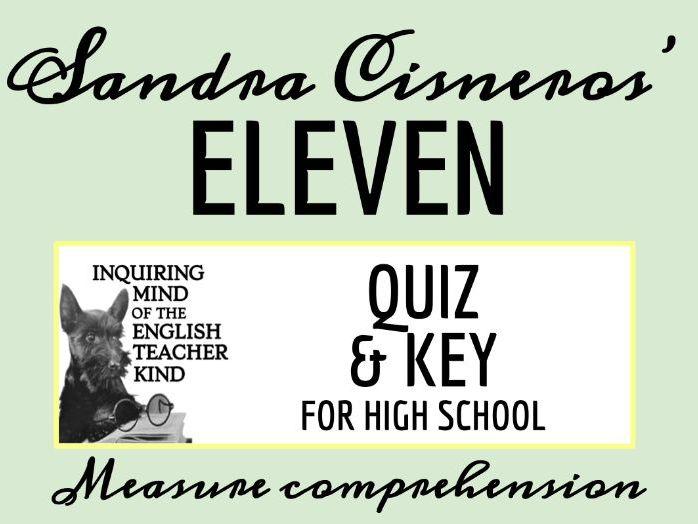 """""""Eleven"""" by Sandra Cisneros Quiz"""