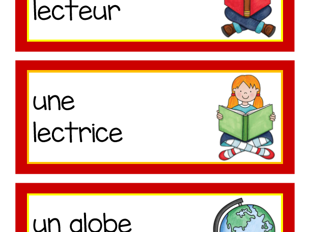 Back to School Vocabulary in French (Vocabulaire de la rentrée scolaire)