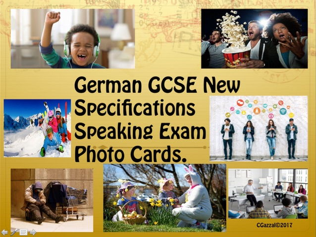 German GCSE New Specifications Speaking Exam Photo Cards.