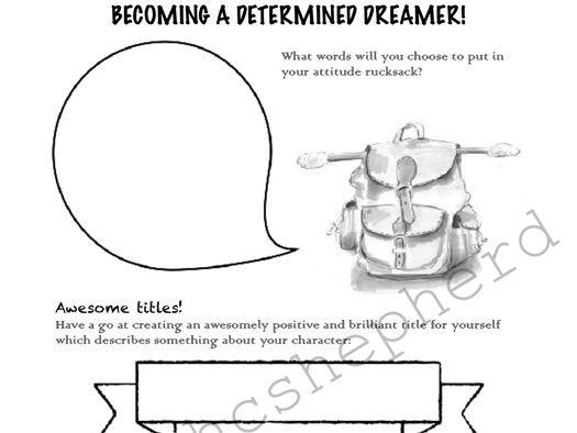 Creative writing with PHSE theme, plus vocabulary activity.
