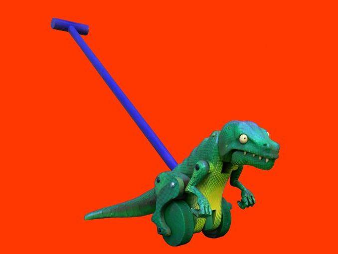 Push Along, Mechanical Dinosaur Toy