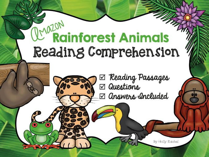 Amazon Rainforest Animals Reading Comprehension