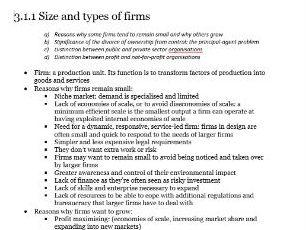 Edexcel Economics A-level Unit 3.1 Business Growth